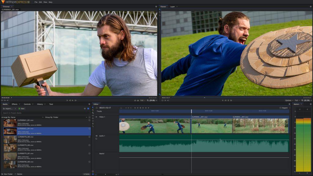 aplikasi HitFilm Express untuk video